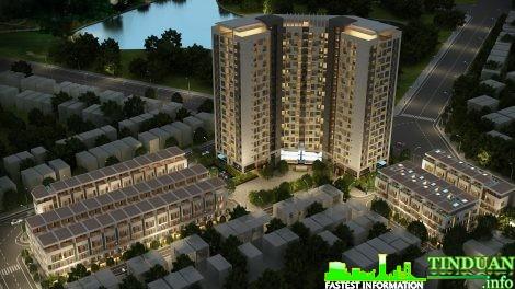 Phối cảnh tổng thể chung cư Rice City Sông Hồng