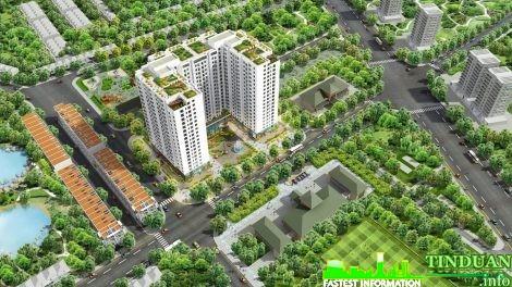 Phối cảnh tổng thể dự án Rice City Sông Hồng
