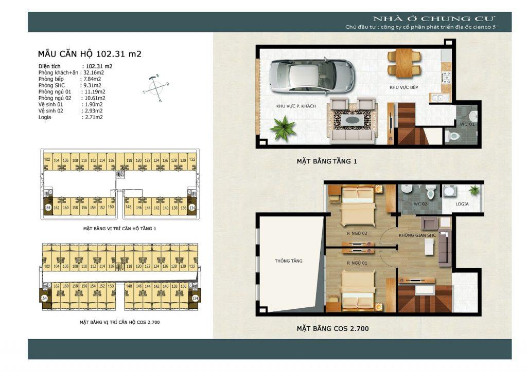 Thiết kế căn góc 34 và 64