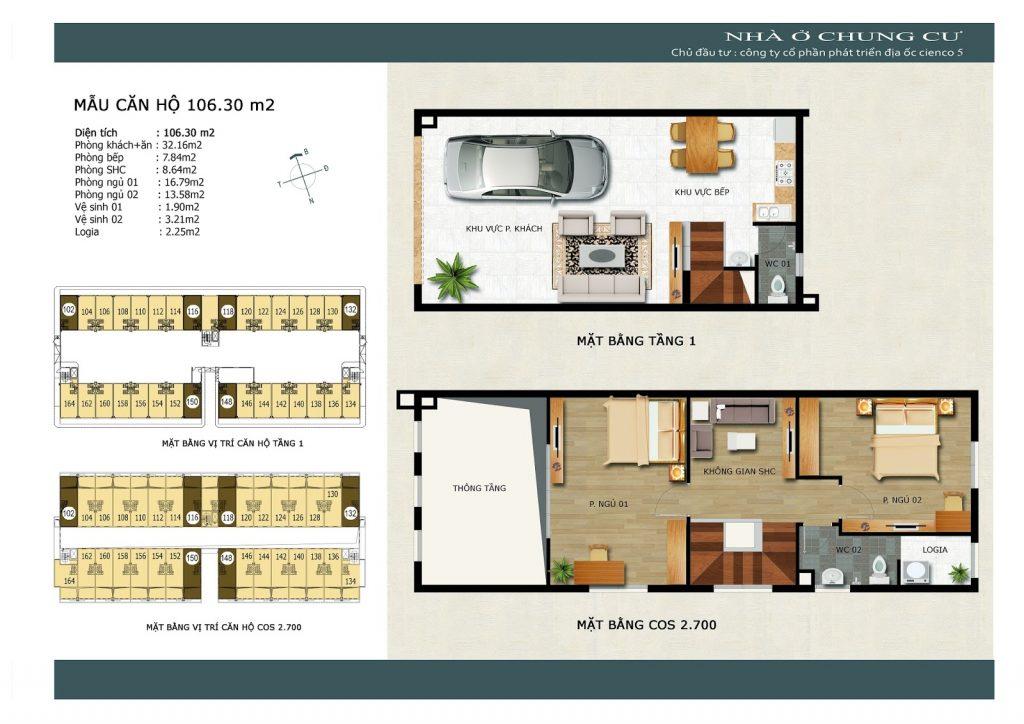 Thiết kế căn góc tầng 1