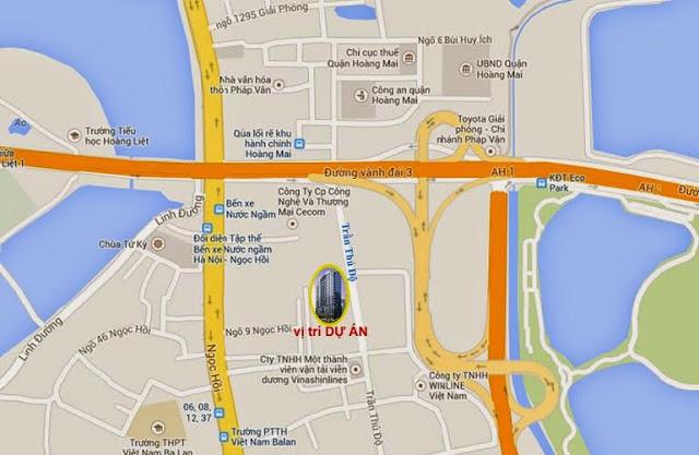 Vị trí chung cư South Tower Hoàng Liệt