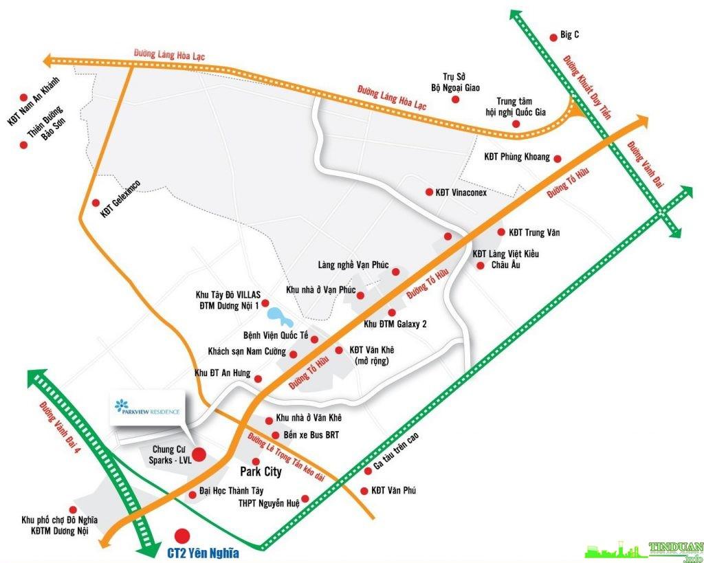 Chung cư CT2 Yên Nghĩa có vị trí đắc địa