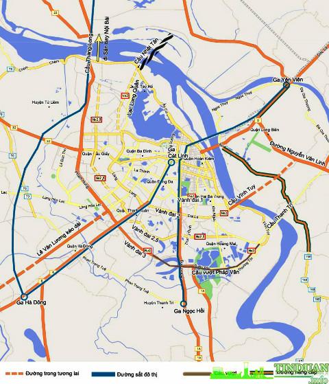 Bản đồ quy hoạch Giao thông từ dự án Tứ Hiệp