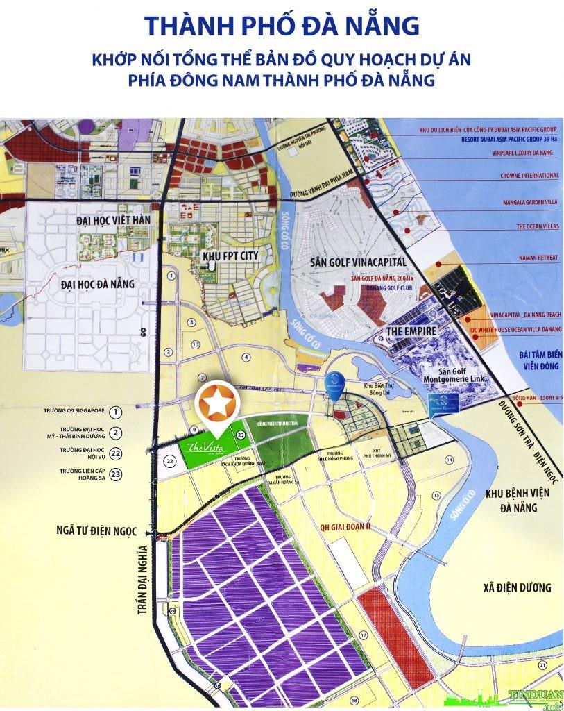 Bản đồ liên kết các tiện ích của The Vista