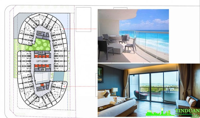 Mặt bằng tầng điển hình của dự án Panorama Condotel Nha Trang
