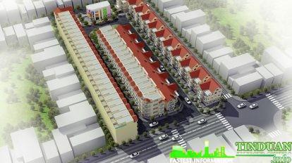 Phối cảnh tổng thể liền kề 96 Nguyễn Huy Tưởng