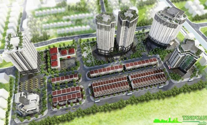 Phối cảnh tổng thể dự án CT2 Yên Nghĩa