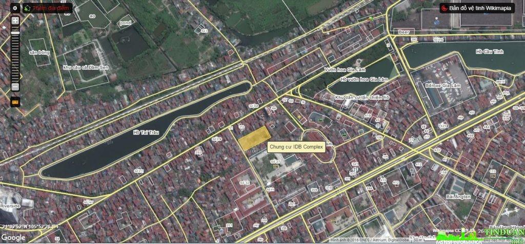 Vị trí chung cư IDB Việt Nam Complex ngõ 298 Ngọc Lâm