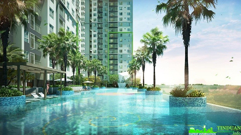 Bể bơi vô cực tòa S2 Dự án Seasons Avenue