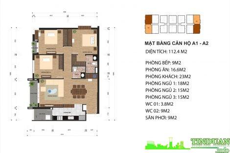 Thiết kế căn hộ A1 và A2