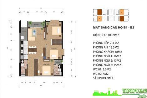 Thiết kế căn hộ B1 và B2