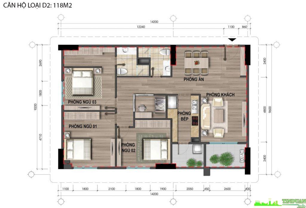 Thiết kế căn hộ D2 118m2