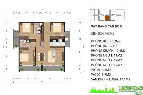Thiết kế căn hộ loại E