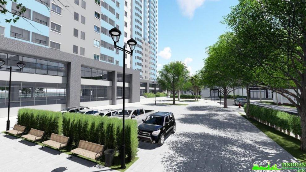 Phối cảnh một góc khuôn viên dự án Osaka Complex