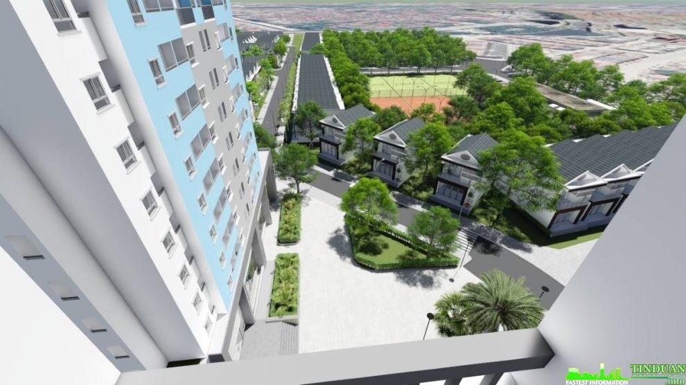 Phối cảnh nhìn khuôn viên dự án Osaka Complex từ căn hộ trong dự án