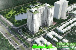 Phối cảnh tổng thể dự án nhà ở xã hội Kiến Hưng