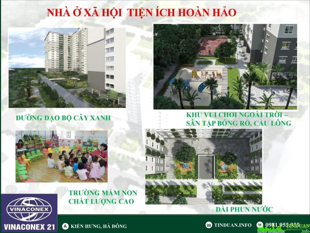 Tiện ích nội khu dự án nhà ở xã hội Kiến Hưng