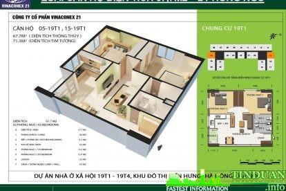 Phối cảnh 3D căn hộ số 05 và 15