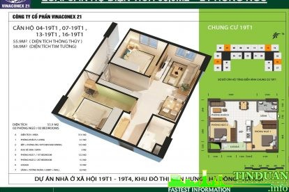 Phối cảnh 3D căn hộ số 04, 07, 13 và 16