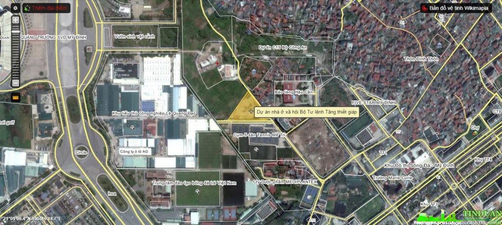 Vị trí dự án Nhà ở xã hội Bộ Tư lệnh tăng thiết giáp