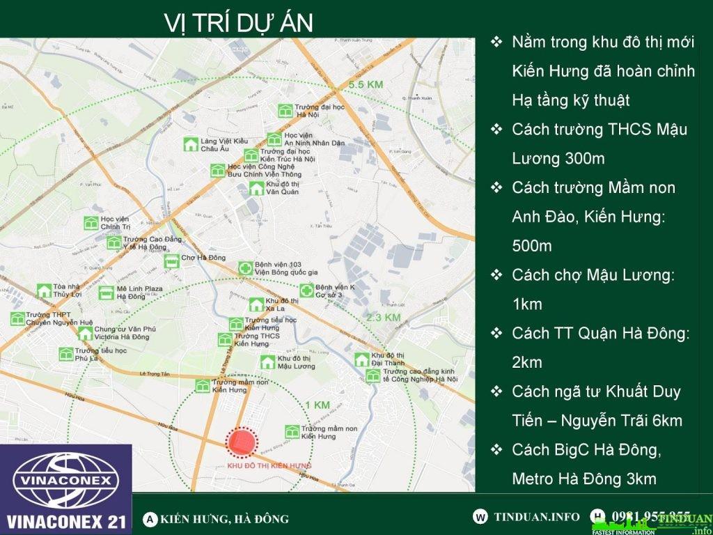 Dự án nhà ở xã hội Kiến Hưng có vị trí trung tâm Quận Hà Đông