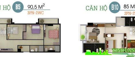 Phối cảnh 3D căn B5-B10 chung cư Oriental Plaza 16 Láng Hạ