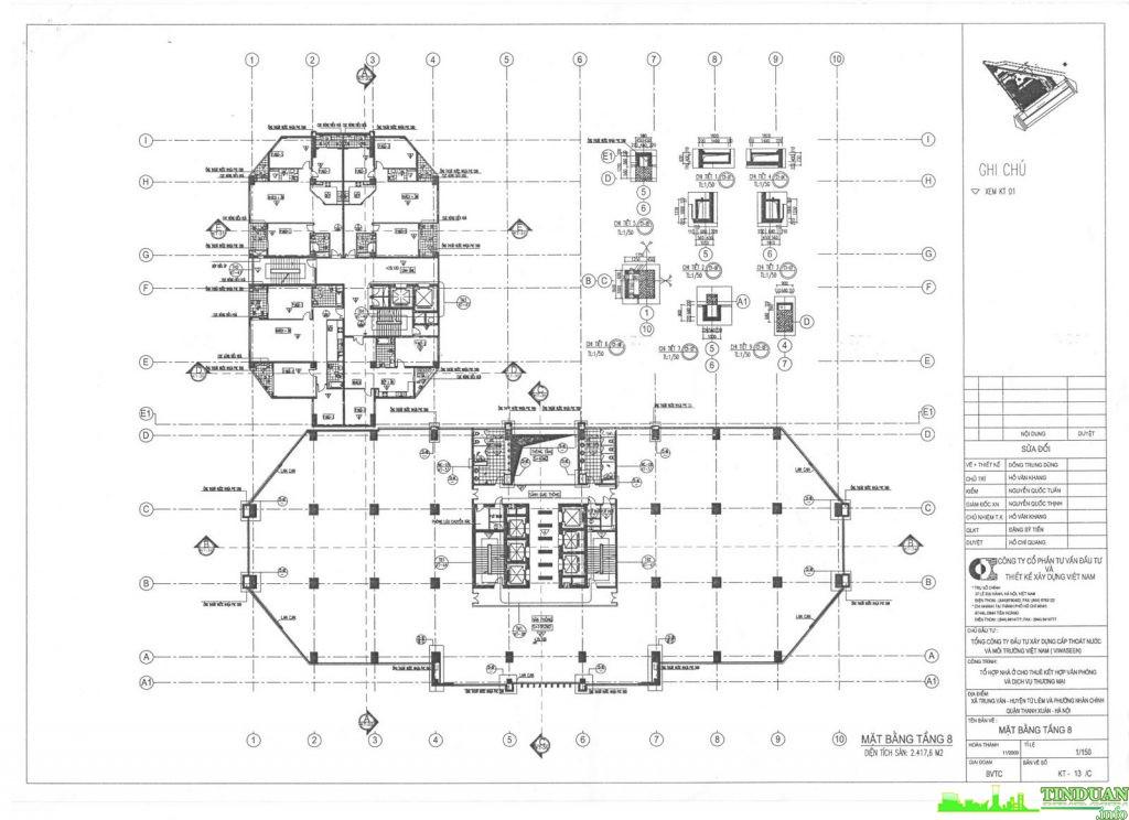 Mặt bằng tầng điển hình dự án chung cư Viwaseen Tower