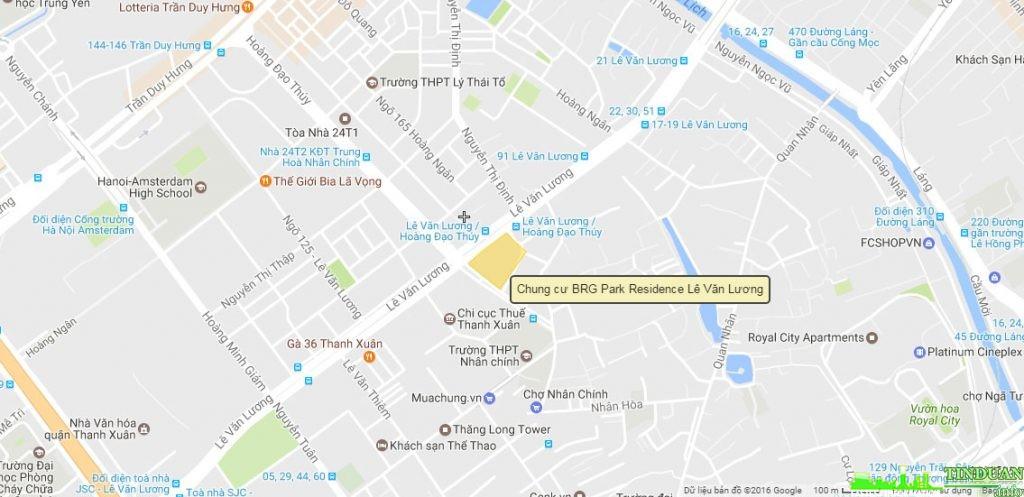 Chung cư BRG Park Residence có vị trí đắc địa