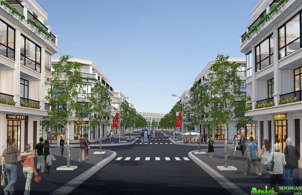Phối cảnh tuyến phố thương mại Sing Garden Từ Sơn Bắc Ninh