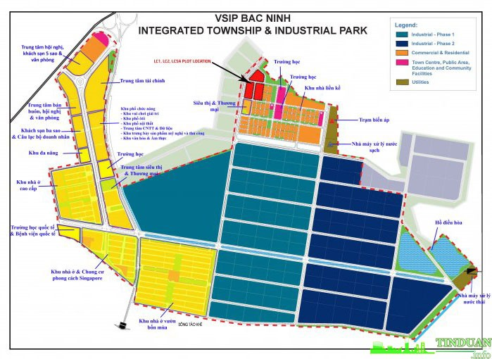Quy hoạch tổng thể VSIP Từ Sơn Bắc Ninh