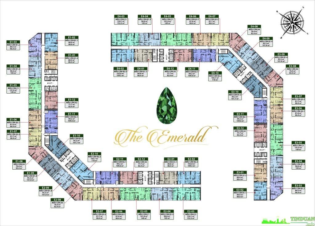Mặt bằng tầng điển hình The Emerald