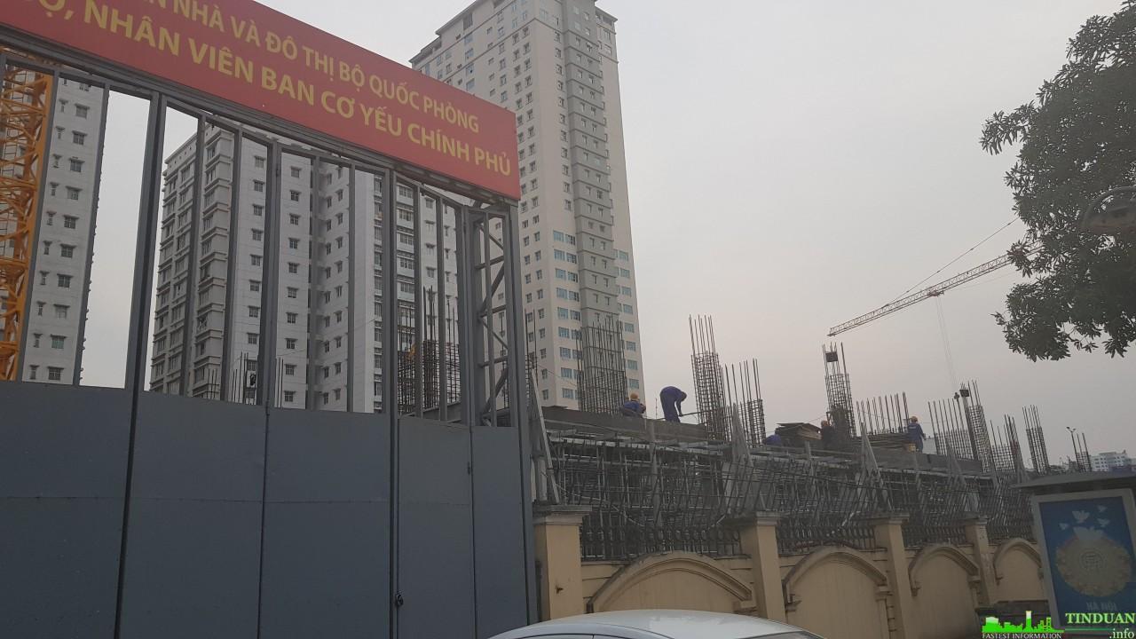 Tiến độ chung cư ban cơ yếu chính phủ Lê Văn Lương
