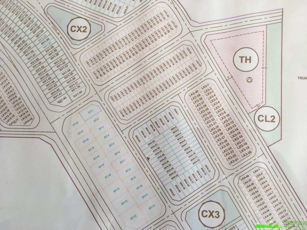 Mặt bằng LK1 LK2 LK3 NV4 BT1 dự án tổng cục 5 Tân Triều