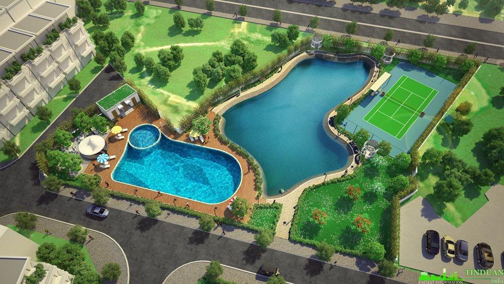 Phối cảnh bể bơi người lớn và trẻ em dự án Eden Rose