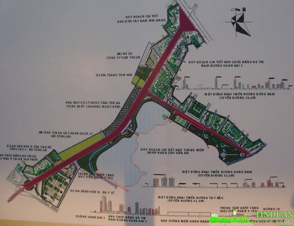 Bản đồ quy hoạch tỷ lệ 1/500 Đại lộ Chu Văn An