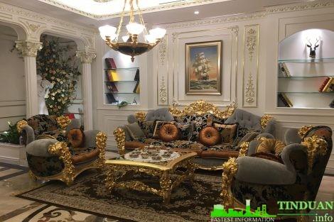 Nội thất phòng khách nhà mẫu dự án Belleville B4 Nam Trung Yên