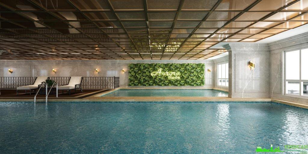 Bể bơi dự án Chung cư Aurora Garden 727 Tam Trinh