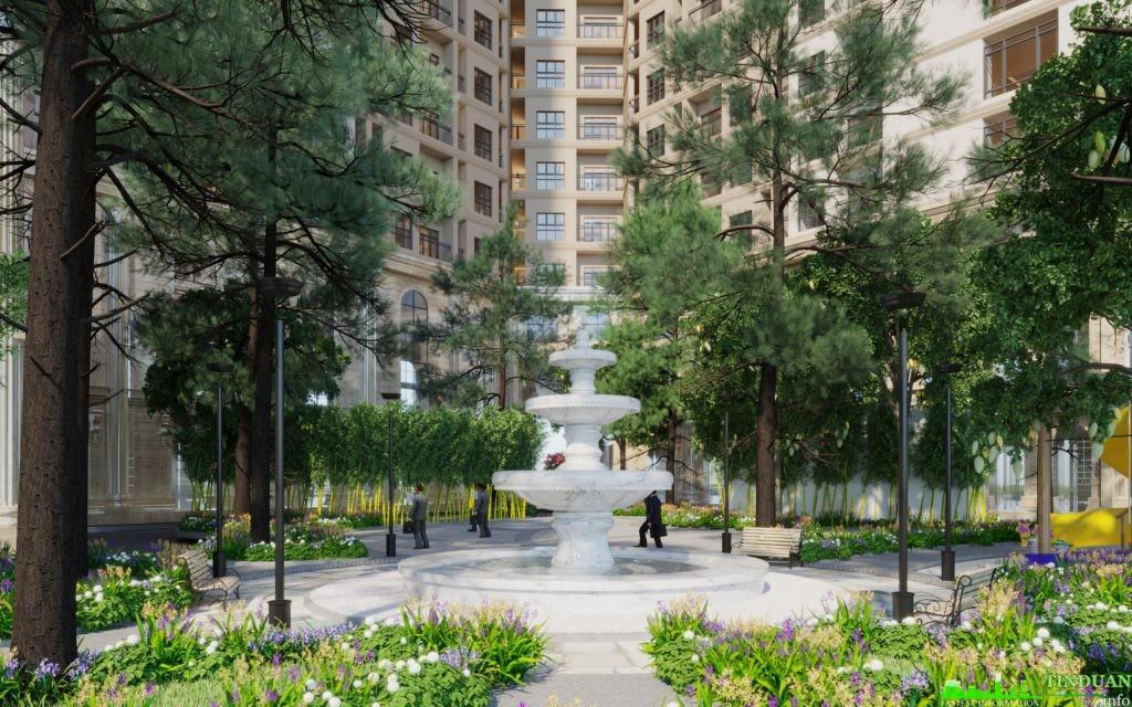 Đài phun nước Chung cư Aurora Garden 727 Tam Trinh