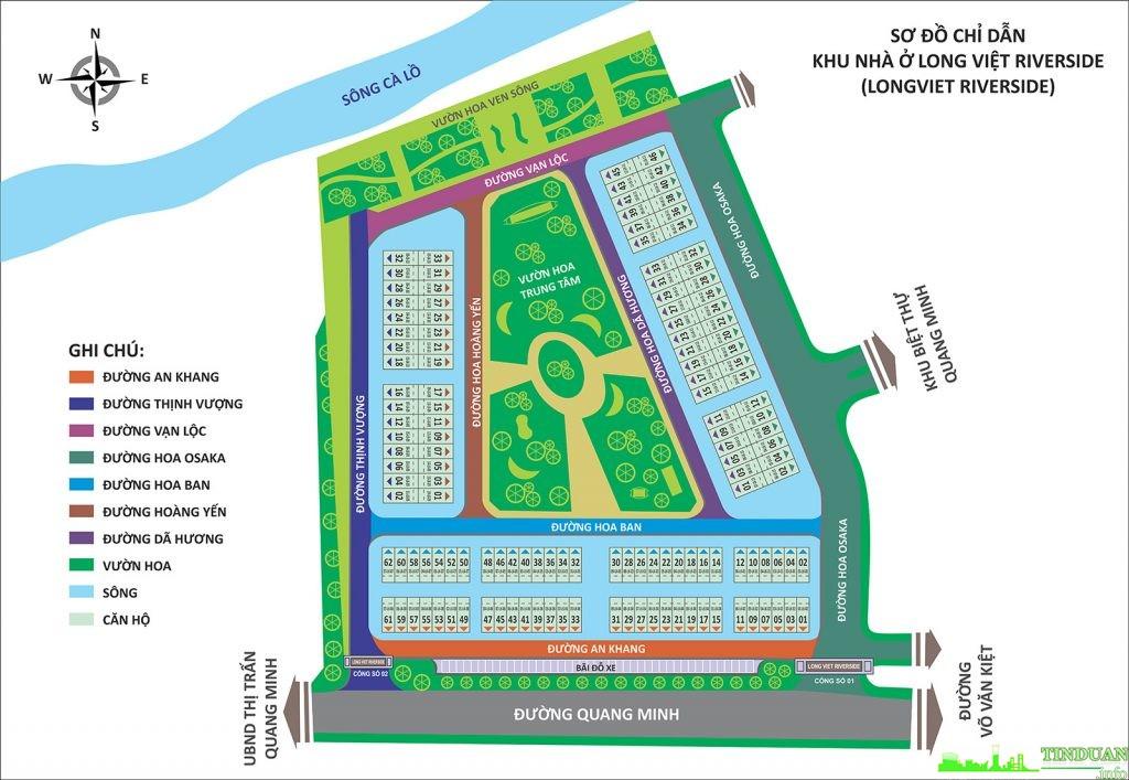 Mặt bằng tổng thể dự án Long Việt Riverside