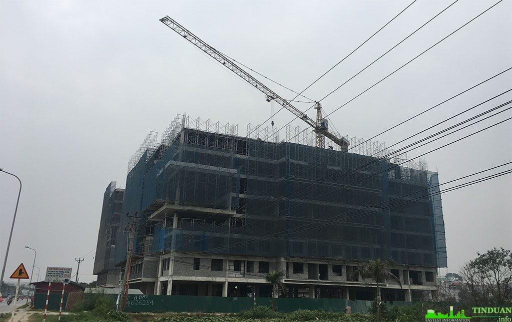 Tiến độ thực tế nhà ở xã hội CT3 Thăng Long Green City Kim Chung
