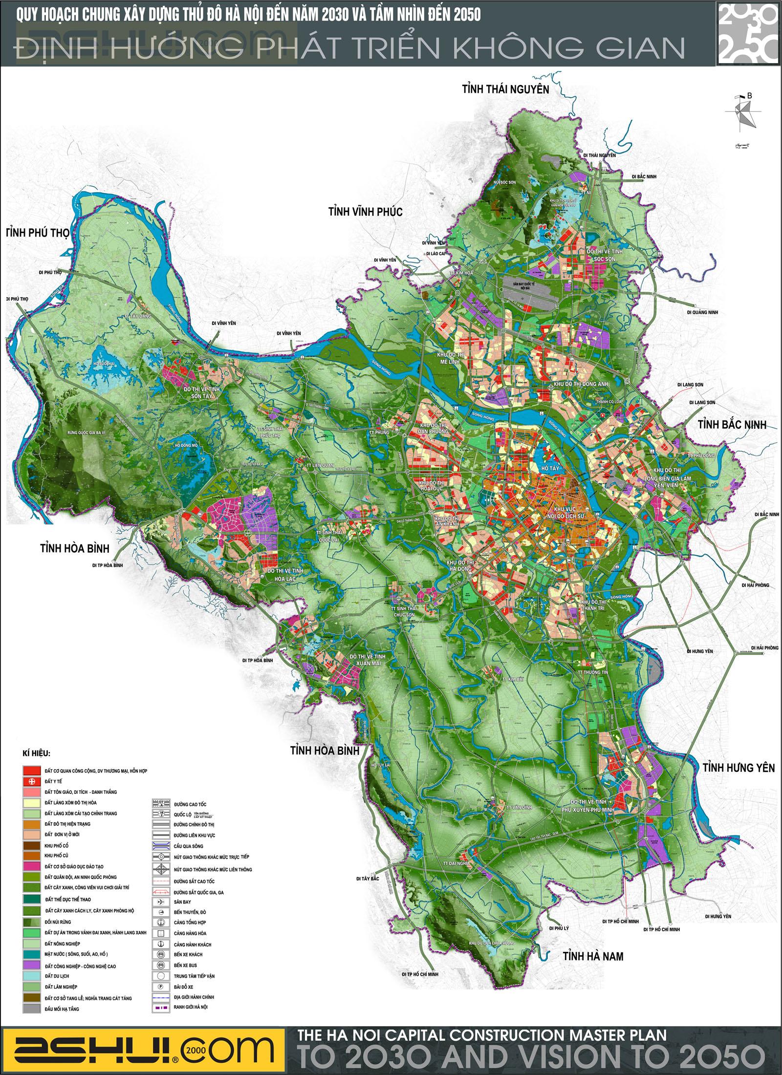 Quy hoạch chung Thủ đô Hà Nội đến năm 2030 và tầm nhìn đến năm 2050