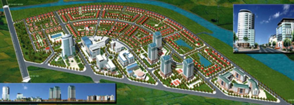 Phối cảnh tổng thể Khu biệt thự Quang Minh Vinaconex 2