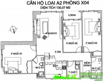 Căn hộ 120m2 X04 Chung cư MHDTrung Văn