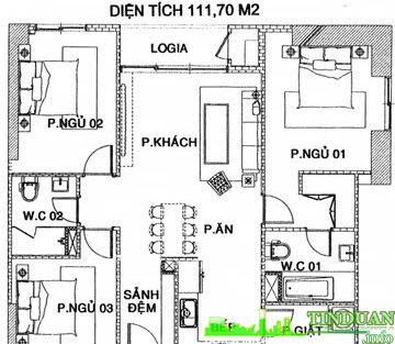 Căn hộ 111m2 X07 Chung cư MHDTrung Văn