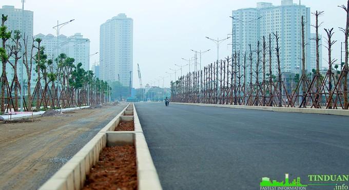 Đại lộ Chu Văn An trong giai đoạn hoàn thiện