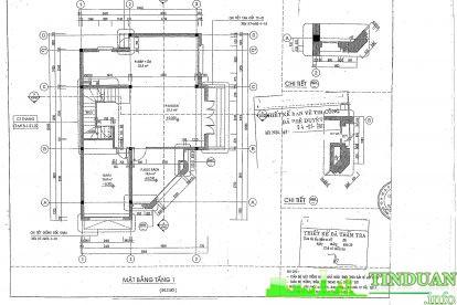 Mặt bằng căn hộ mẫu tầng 1
