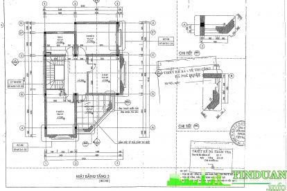 Mặt bằng căn hộ mẫu tầng 3