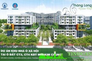 Phối cảnh tổng thể nhà ở xã hội CT3 CT4 - Thăng Long Green City Kim Chung Đông Anh